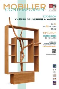 Affiche Expo Vannes des Ébénistes Créateurs de Bretagne Octobre 2017