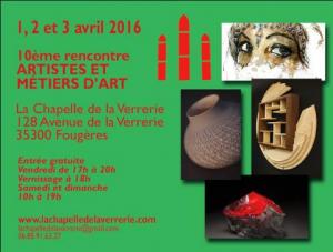 Affiche des Journées Européennes des Métiers d'Art 2016