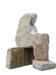 """""""l'hors-venu"""", sculpture granit"""