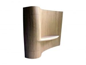 grand panneaux de bois cintré , console