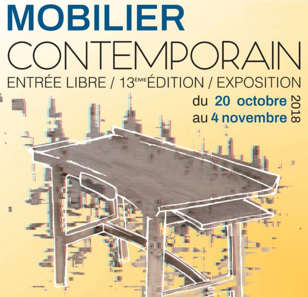 affiche expo Vannes mobilier contemporain 2018 completement à l'ouest