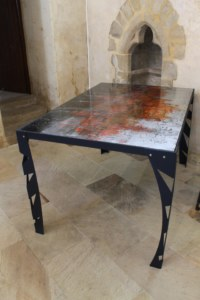 Table architecture et reflets